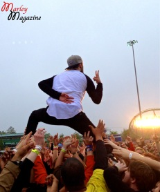 Kyle Even of Breathe Carolina Crowd Surfing at Skate and Surf Fest.