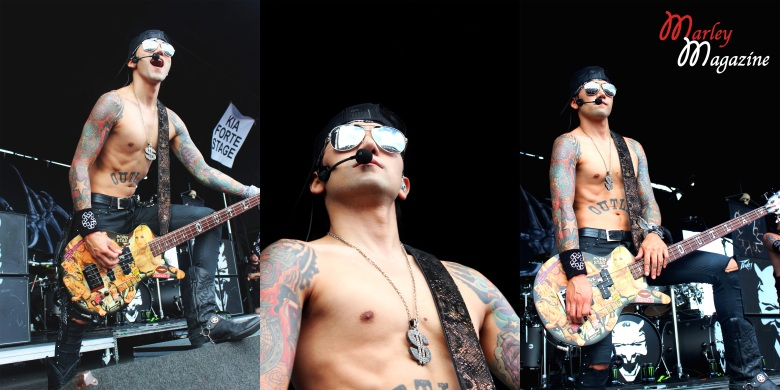 Ashley performing with his band, Black Veil Brides, at Warped Tour on Long Island.