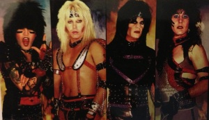 Early band costumes which Ashley designed and created.